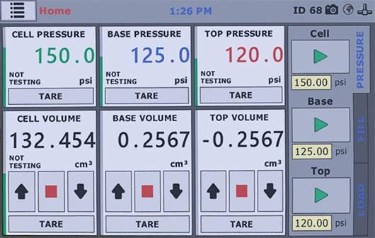 Auto-pressure-software-screen